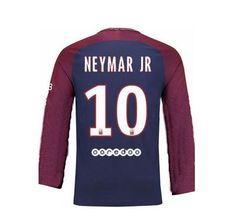 Neymar  10  Psg  UCL  2017 18  Home  Men  Long  Sleeve  Jersey 9e978bdb15e