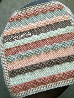crochet Ravelry: Nine of Bobbles Deckenmuster von Pat Foster Choosing an efficient dishwashers Artic Crochet Afghans, Crochet Bobble Blanket, Crochet Diy, Crochet Blanket Patterns, Crochet Crafts, Crochet Stitches, Crochet Projects, Knitting Patterns, Baby Girl Crochet Blanket