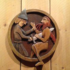 Utskjæringer - pynt inne i viking huset