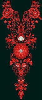 Pakistani Motif Long Neck Embroidery Designs - Embdesigntube