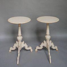 Pair of Swedish 19c pedestal tables