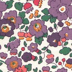 Liberty betsy violet - feuille coupon de tissu thermocollant pour appliqués
