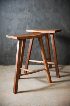 These stools are a limited release. They are made from 100% local black walnut that has been sustainable harvested. Each one is unique as they are built and shaped using traditional hand tools. Mortise and wedged tenon joinery ensures that these stools will be with you for many years to