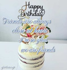 Best Happy Birthday Wishes giortazo Make someone's birthday more special Pics And Gifs Happy Birthday Wishes Pics, Happy Birthday Fun, Birthday Cake, Cute Good Morning Quotes, Friend Birthday, Gifs, Greeting Cards, Baguette, Desserts