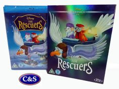 Disney's 23rd Animated Classic The Rescuers Blu-Ray O-RING LTD EDITION ARTWORK.