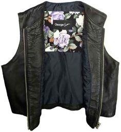 Leather Cropped Vest by George & Jean