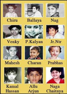 Tollywood Popular Heroes Childhood Photos!