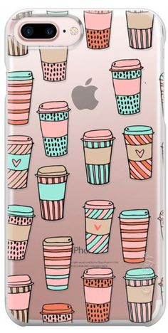 Casetify iPhone 7 Plus Case and iPhone 7 Cases. Other Morning iPhone Covers - But First, Coffee by Andrea Lauren | Casetify