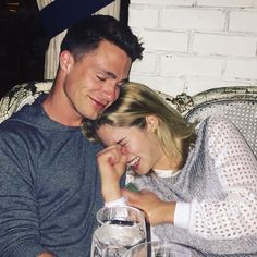 Colton Haynes and Emily Bett Rickards - Arrow Boy And Girl Best Friends, Guys And Girls, Boy And Girl Friendship, Friendship Photography, Best Friend Photography, Team Arrow, Colton Haynes, Emily Bett Rickards, Lunar Chronicles