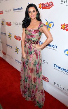 Katy Perry in a floral Dolce & Gabbana dress