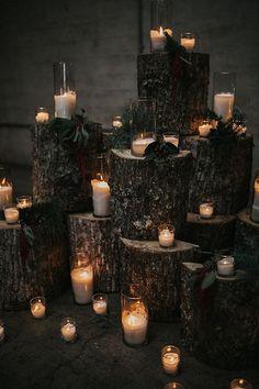 Forest Wedding, Woodland Wedding, Fall Wedding, Rustic Wedding, Dream Wedding, Winter Themed Wedding, Black Wedding Decor, Tree Themed Wedding, Christmas Wedding Themes