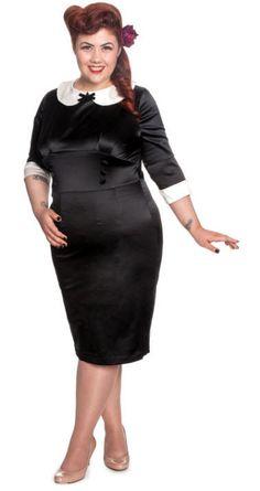 HELL BUNNY MONEY PENNY DRESS ROCKABILLY PINUP RETRO VINTAGE GOTHIC BLACK