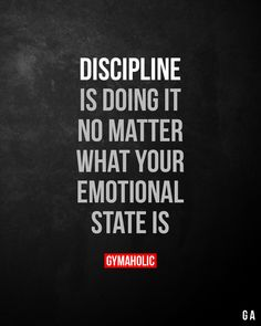 Discipline Quotes, Self Discipline, Quotes To Live By, Me Quotes, Quotes App, Family Quotes, Sport Fitness, Free Fitness, Fitness Diet