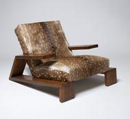 oak/doe-hide chair by JMF