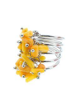 Inel cu elemente din coral Coral, Bohemian, Boho