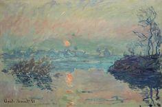 Titre de l'image : Claude Monet - Le soleil disparaissant