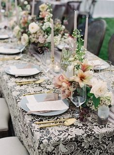 La Tavola Fine Linen Rental: Venice Lace Cappuccino with Aurora Mauve Table Runner | Photography: Clark Brewer, Styling & Design: Lacy Geary Designs, Event Planning: Invision Events, Florals: Intertwine, Paper Goods: Paper Birch Designs, Rentals: Crush Event Design and Professional Party Rentals