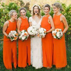 Orange Bridesmaid Dresses Cheap