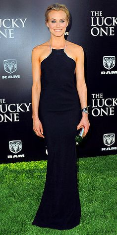 Taylor Schilling wearing Calvin Klein. I love the cut of this dress.