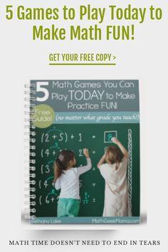 Easy Math Games, Printable Math Games, Math Card Games, Kindergarten Math Games, Free Math Worksheets, Fun Math, Teaching Math, Math Resources, Teaching Tips