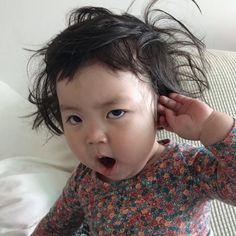 Sahura kalktık anlık böyleyiz Cute Baby Meme, Funny Baby Memes, Cute Love Memes, Funny Babies, Funny Kids, Cute Kids, Cute Asian Babies, Korean Babies, Asian Kids