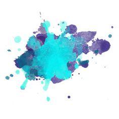 Teal & Purple Watercolor Splash