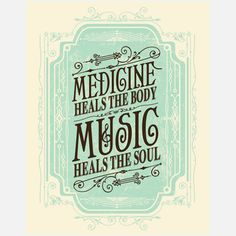 "Music Heals Print 11x14""  by Status Serigraph"