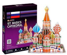 Basil's Cathedral CubicFun educational puzzle Paper & EPS Model Papercraft Home Adornment for christmas gift Puzzles, Saint Basile, Diy For Kids, Crafts For Kids, Safari, Paper Models, Diy Toys, Plush Dolls, 6 Years