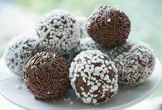 Chokladbollar med mjölkchoklad - Tessanbakar