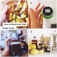 How to make sous vide ginger syrup for cocktails | Nomiku