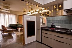 OWN HOUSE – Aangan Architects Home Decor Kitchen, Kitchen Interior, Kitchen Design, Bathroom Interior, Indian Home Design, Indian Home Interior, Ethnic Home Decor, Indian Home Decor, Living Room Designs India
