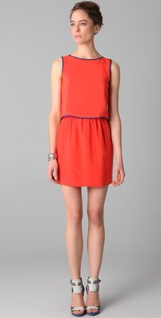 Cocktails? Sleeveless dress with a draped back (not pictured) by Cut 25 on shopbop.com