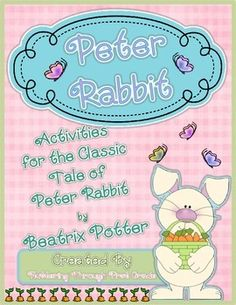The Tale of Peter Rabbit Literacy and Math Activities will build essential Common Core speaking, listening, vocabulary, and writing skills for your young learners. This set is packed with essential story vocabulary cards,  pre-made Peter Rabbit Bingo cards and template, Peter Rabbit writing pages and class book covers or bulletin board posters, and an adorable directed drawing activity for Peter Rabbit!
