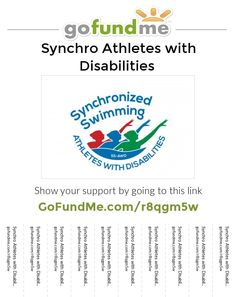 Please sign in to access your GoFundMe account. Synchronized Swimming, Go Fund Me, Disability, Of My Life, Athletes, Words, Horses