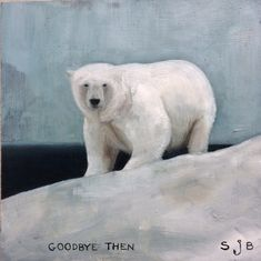 Oil on board Sarah J, Polar Bear, Painters, Screen Printing, Carving, Boat, Fine Art, Birthday