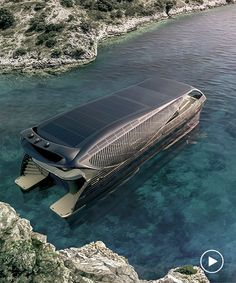 solar impact: world's first ocean-going solar-powered yacht can cruise the globe with no need for a fuel stop Yacht Design, Boat Design, Super Yachts, G3 Boats, Floating Architecture, Boat Stuff, Yacht Boat, Speed Boats, Power Boats