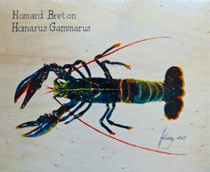 Le homard breton acrylique sur bois #homard #bretagne #acrylique