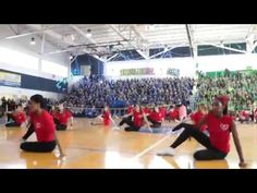 Central High Cheerleaders dance at pep rally - YouTube