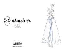 Diseño finalista MFShow by Lab PANDORA. Colección Almíbar. Diseño expuesto en el Museo del Traje de Madrid. #Pandora#pearls#fashion#design#white#photography#charms