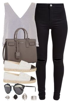 """Style #9179"" by vany-alvarado ❤ liked on Polyvore featuring New Look, Apiece Apart, Yves Saint Laurent and Christian Dior"