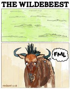 Mind Vomit: Comics by Richard Stelmach. The Wildebeest. #webcomic #illustration #comicstrip