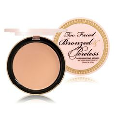 Too Faced Bronzed and Poreless ($30, toofaced.com). Create radiant-looking skin with all-over natural warmth. Bronzed & Poreless is infused with the same pore-banishing and skin smoothing properties that made our original Primed & Poreless famous—with an added warm matte bronze finish. It's the must-have little black dress of bronzers.