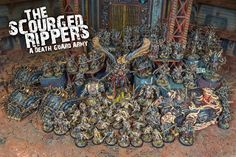 This is one of the better mercenary painters on the Internet. He also paints his own armies to take to Adepticon. He finally got commissioned to do another Death Guard Army which is the ruleset more so than the chapter but then you see the Primarch in every army. How does he find time to fight in every battle? How does he not die? Anyway there are a lot more photos if you click through.
