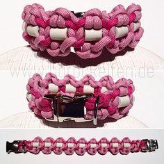 Halsband mit EM-Keramik in Rosa/Türkis