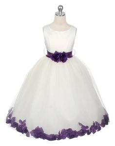Flowergirl Dress, love the trim detail. Both Sophie and Emily like it :)