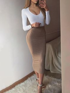 Shop Spell Color Long Sleeve Bodycon Dress – Discover sexy women fashion at Boutiquefeel Source by mrslesleyarelly dresses cute Classy Outfits, Sexy Outfits, Chic Outfits, Sexy Dresses, Dress Outfits, Fashion Outfits, 00s Fashion, Tunic Dresses, Workwear Fashion