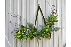 Horizontal wreath • Earthy Holiday Decor from LA: Remodelista