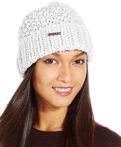 8ab40ee76d1 MICHAEL Michael Kors Seed Stitch Cuff Hat Handbags   Accessories - Macy s