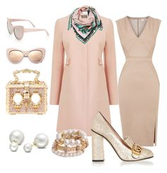 Blushed Glamour by jutzcm on Polyvore featuring polyvore, fashion, style, Oasis, Gucci, Dolce&Gabbana, Allurez, STELLA McCARTNEY, Emilio Pucci and clothing