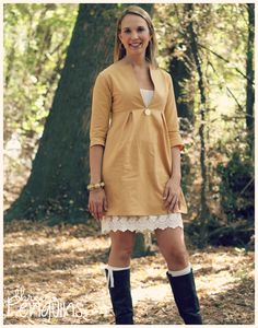 Schoolhouse Tunic by Sew Liberated, Ladies Sizes 2-20